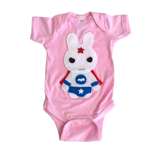 Super Hero Onesie - Star Bunny Infant Bodysuit - Baby Shower Gift