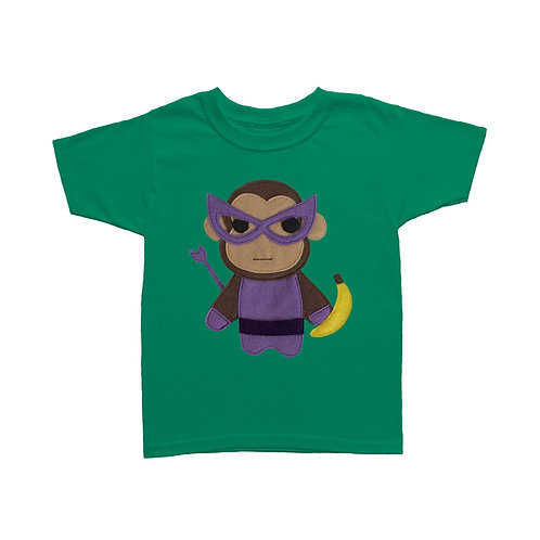 Kids Superhero Shirt - Team Super Animals - Monkey Banana