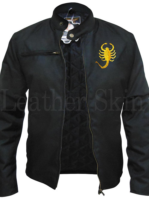 Men Scorpion Genuine Leather Jacket