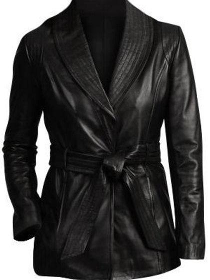 Black Women Fashion Leather Jacket