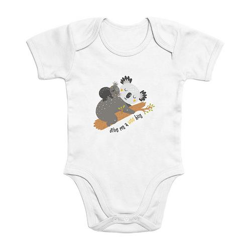 Koala Wee Hug Short Sleeve Organic Baby Bodysuit