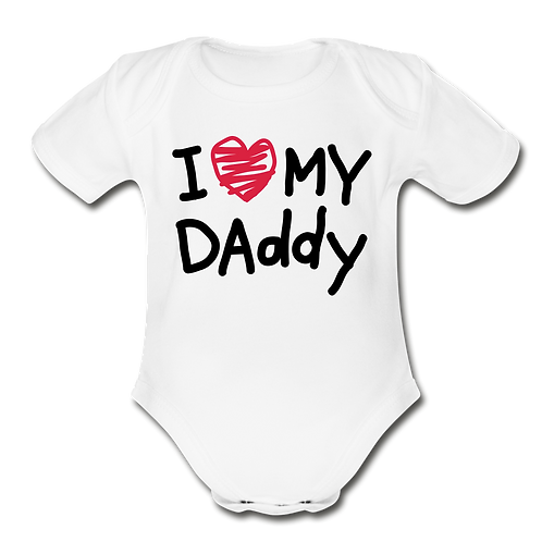 I Love My Daddy Baby Onesie