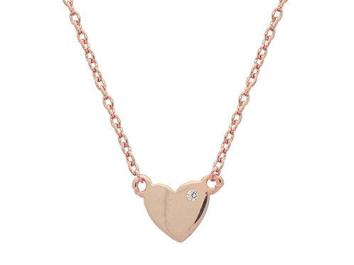 Mini Heart & Cz Necklace