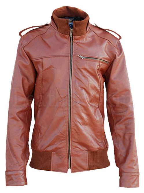 Men Maroon Red Leather Jacket