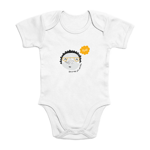Hedgehog Short Sleeve Organic Cottom Baby Bodysuit