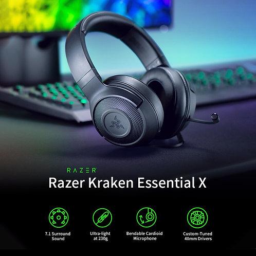 Razer Kraken Essential X Gaming Headset with Light Bendable Cardioid Microphone