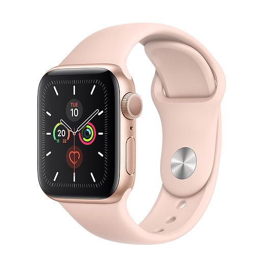 Comprar Relógio Apple Series 5 - Ouro / Gold - Pulseira Rosa Areia