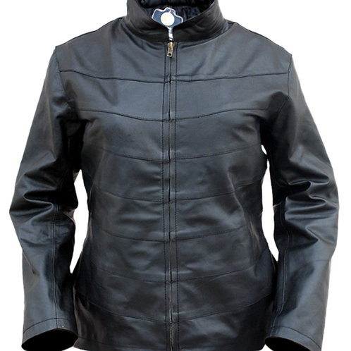 Women Black Genuine Leather Jacket