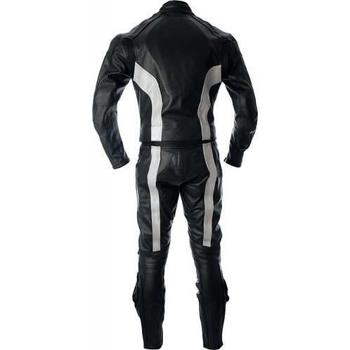 Black Biker Racing Leather Suit