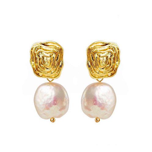 Divine Baroque Pearl 14k Earrings