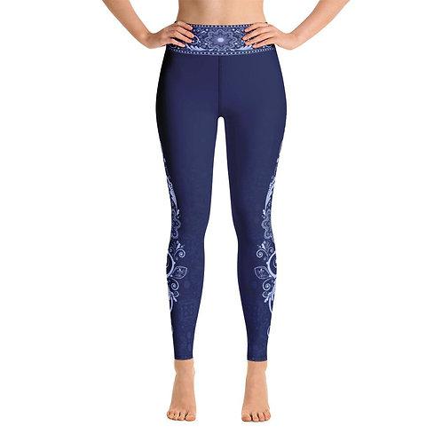 Nirvana (Blue) Womens Yoga Leggings