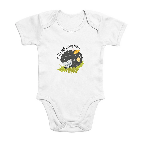Sleep Tight Short Sleeves Organic Baby Bodysuit