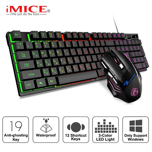 Gaming Keyboard and Mouse Imitation Mechanical Keyboard With Backlight