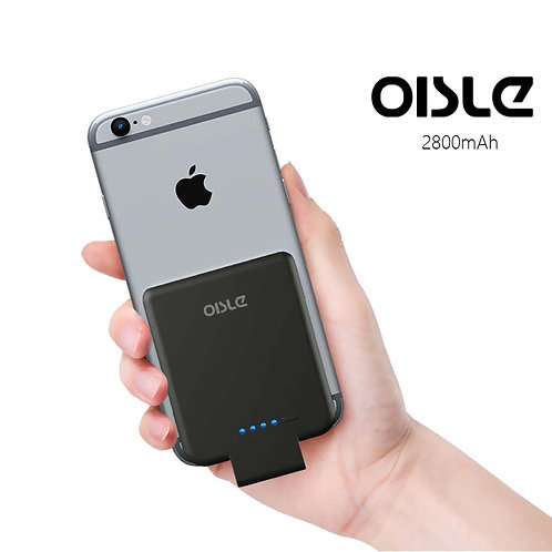 OISLE 2800mAh Battery Charger Case for iPhone 8/7/6(s) Ultra Thin