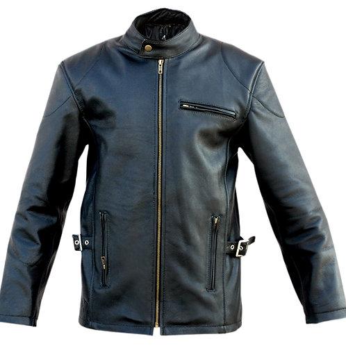 Black Fashion Genuine Leather Jacket
