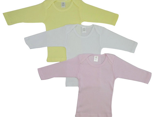 Bambini Girls Pastel Variety Long Sleeve Lap T-Shirts