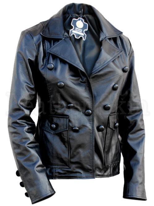 Women Black Punk Leather Jacket