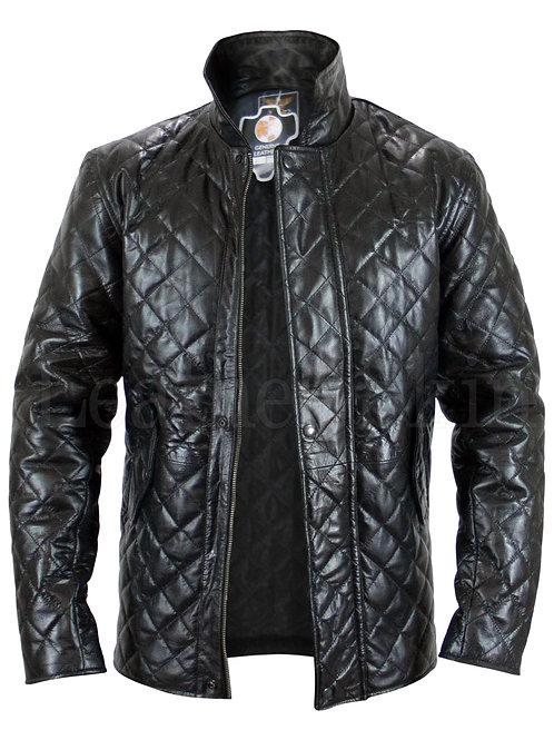 Unisex Black Genuine Leather Jacket