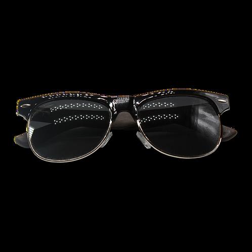 Real Ebony Browline Style RetroShade Sunglasses by WUDN