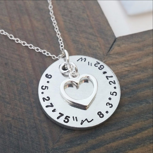 Personalized Coordinates Necklace