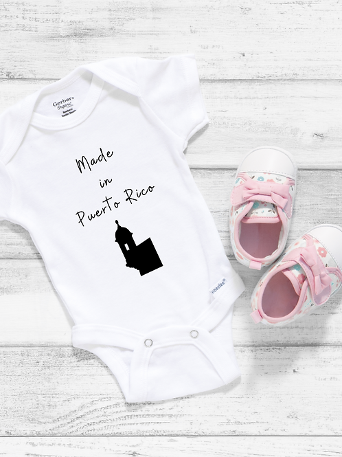 Made in Puerto Rico Baby Bodysuit
