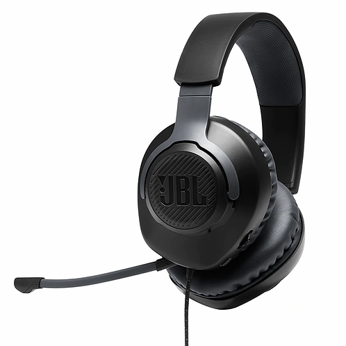 JBL Quantum 100 Wired Headphone Gaming Headset With Mic Foldable Gaming Earphone