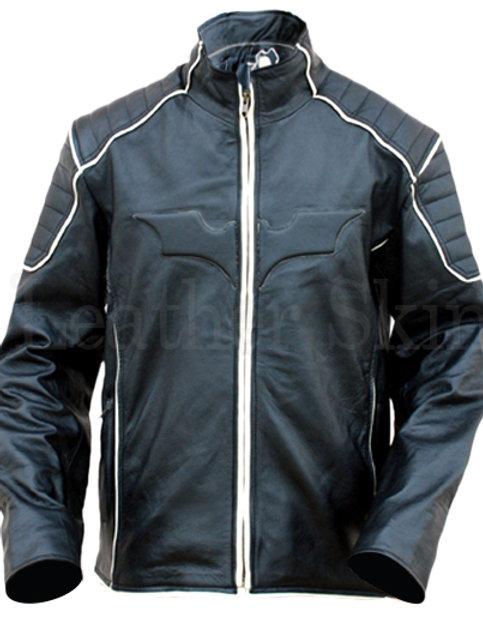 Black Batman Style Leather Jacket