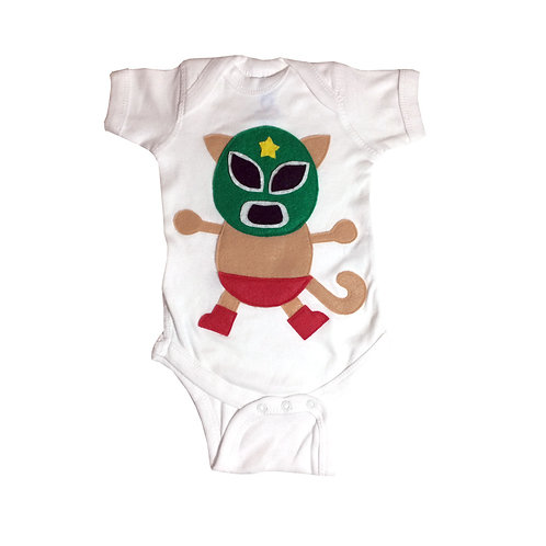 Baby Onesie - Kitty Luchador - Mexican Wrestler Cat