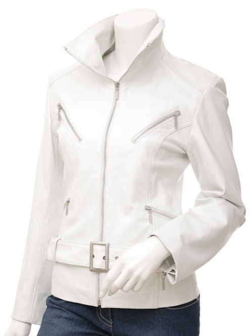 White Angel Women Leather Jacket