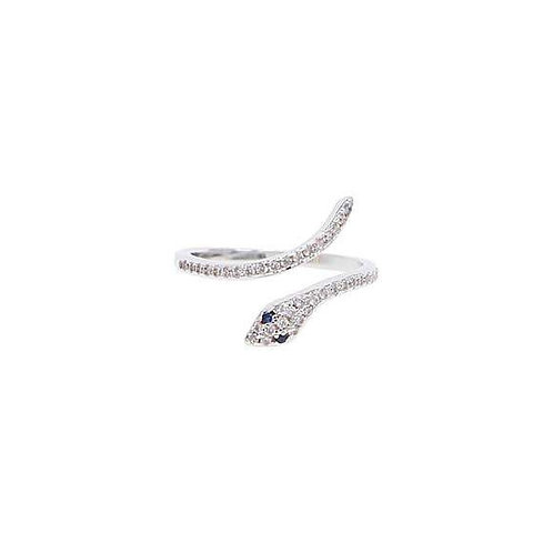CZ Pave Snake Ring Adjustable