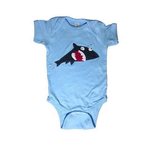 Baby Onesie - Shark + Fish - Mi Cielo X Matthew Langille