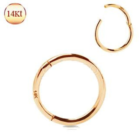 14Kt. Rose Gold Seamless Clicker Ring