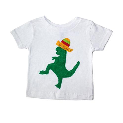 Kids T-Shirt - Mexican Dancing Dinosaur With Sombrero - Toddler Shirt