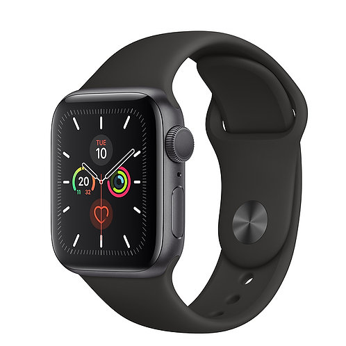 Comprar Relógio Apple Series 5 - Cinza - Pulseira Prata 40 mm