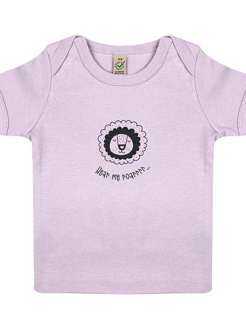 Hear Me Roar Short Sleeve Organic Cotton Baby T-Shirt
