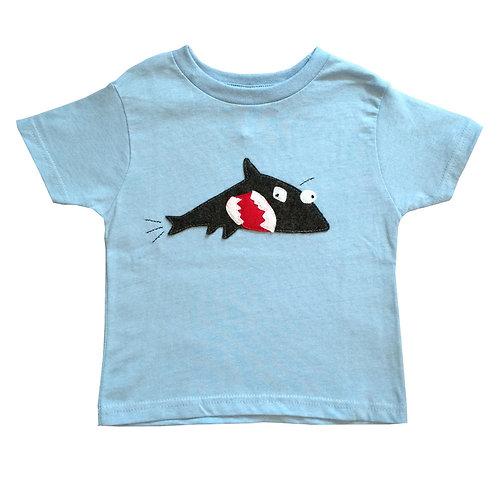 Kids T-Shirt - Shark + Fish - Mi Cielo X Matthew Langille