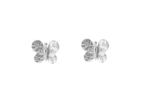 Hammered Butterfly Earrings