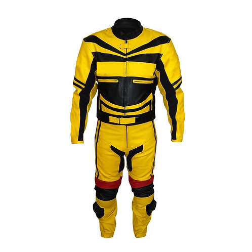 Yellow Biker Racing Leather Jacket