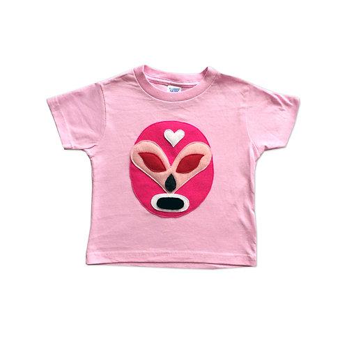 Girl Kid's Shirt- Luchador Rosa - Pink Mexican Wrestler