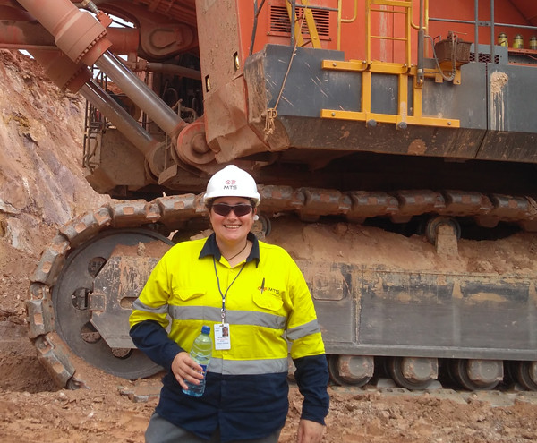 Alicia McCabe with MTS on site