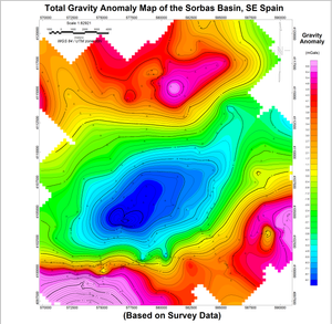 Total Gravity Anomaly Map
