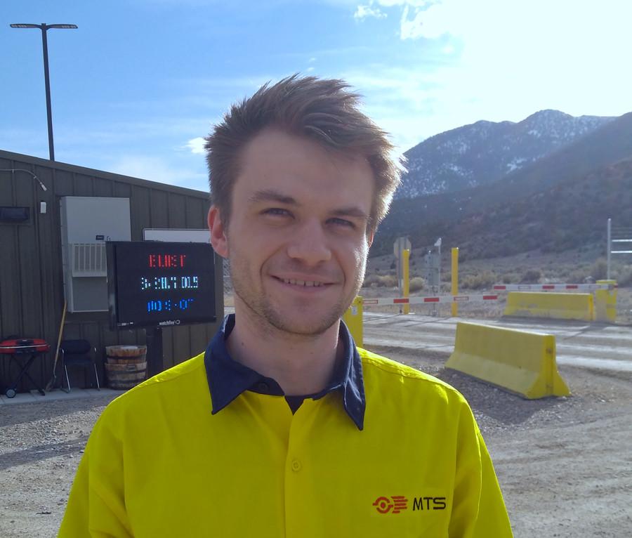 Jonny Witter on site in Nevada