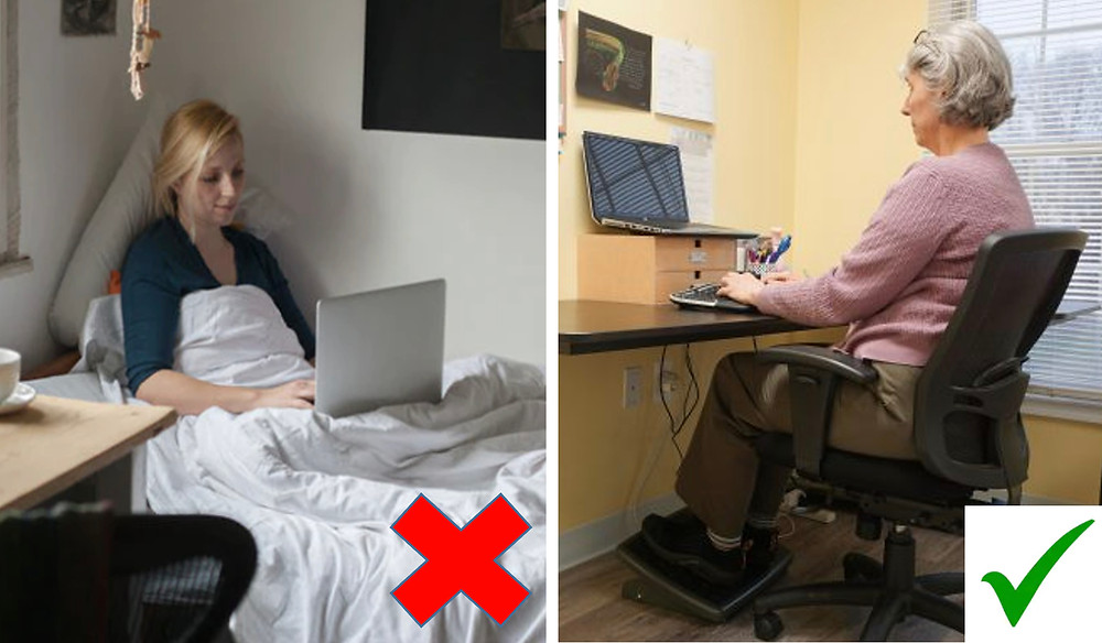 Working from home Right Vs Wrong