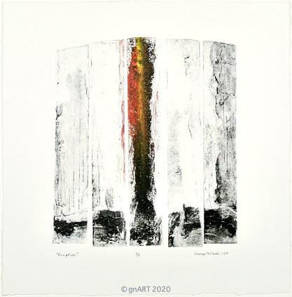 """""""Eruption"""" - ca 31x26cm"""