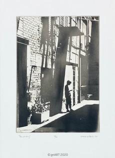 """The waiting"" - ca 20x30cm"