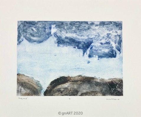 """Cloudy view I"" - 35x25cm"