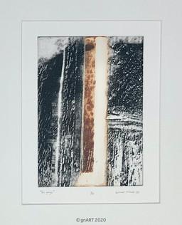 """The gorge"" - ca 21x29cm"