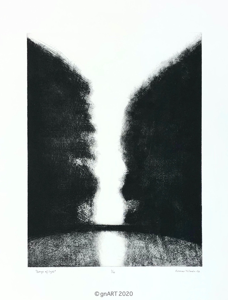 """Gorge of light"" - ca 37x50cm"