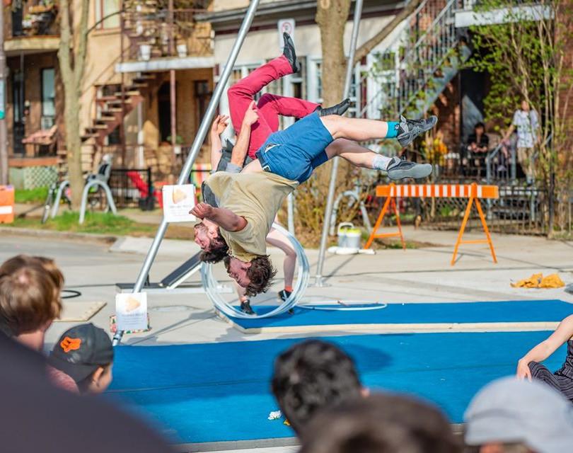 Zoom cirque «Cottage», Festival Jours de Cirque