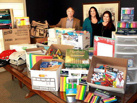 Local Law Office Collects Supplies for Damaged Schools